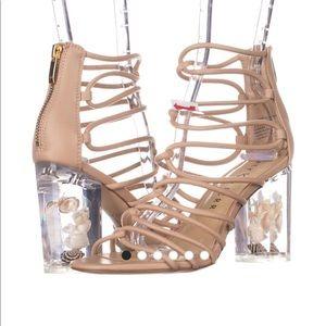 Katy Perry 7.5 Janelle shell heel gladiator NEW